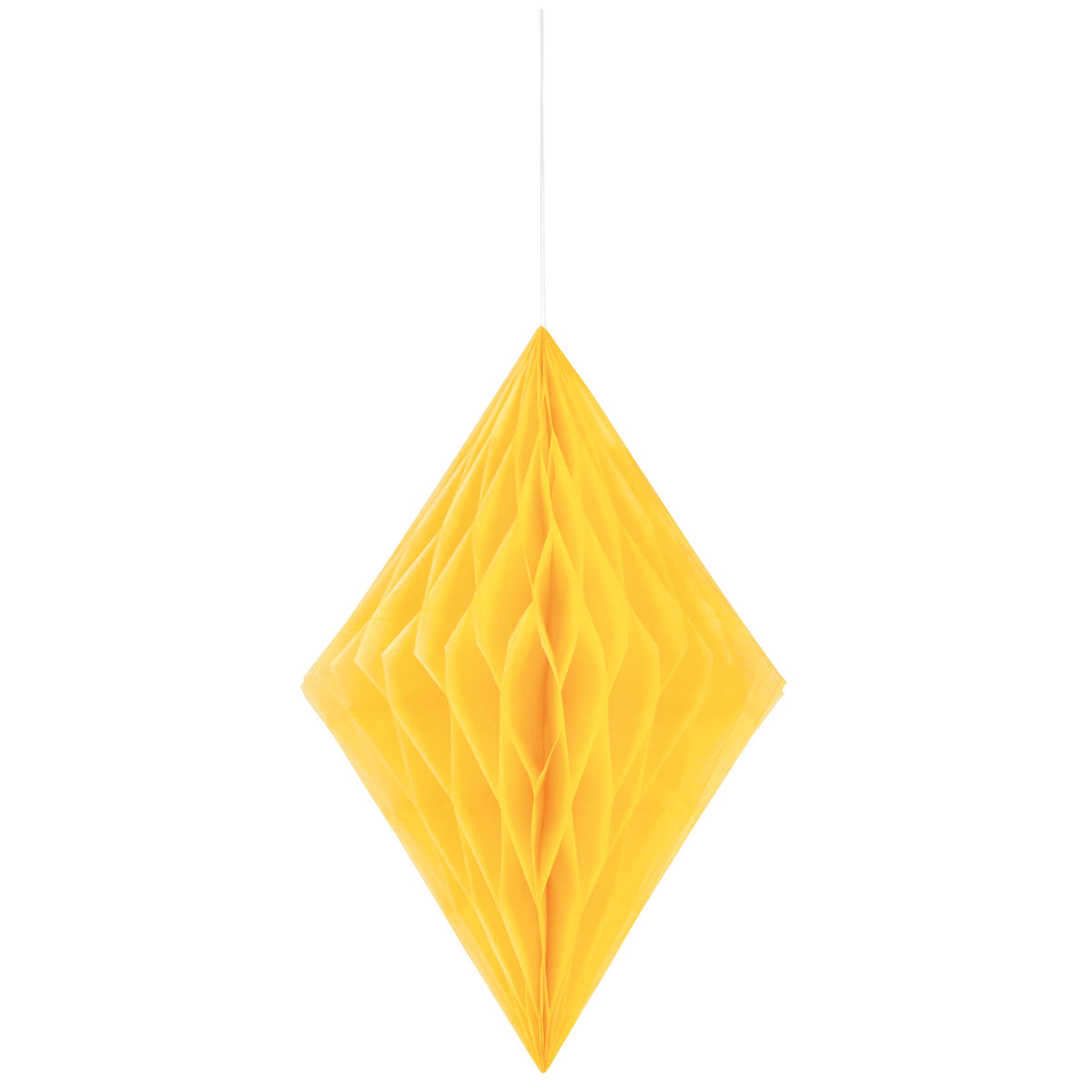 Yellow Diamond Hanging Tissue Decor
