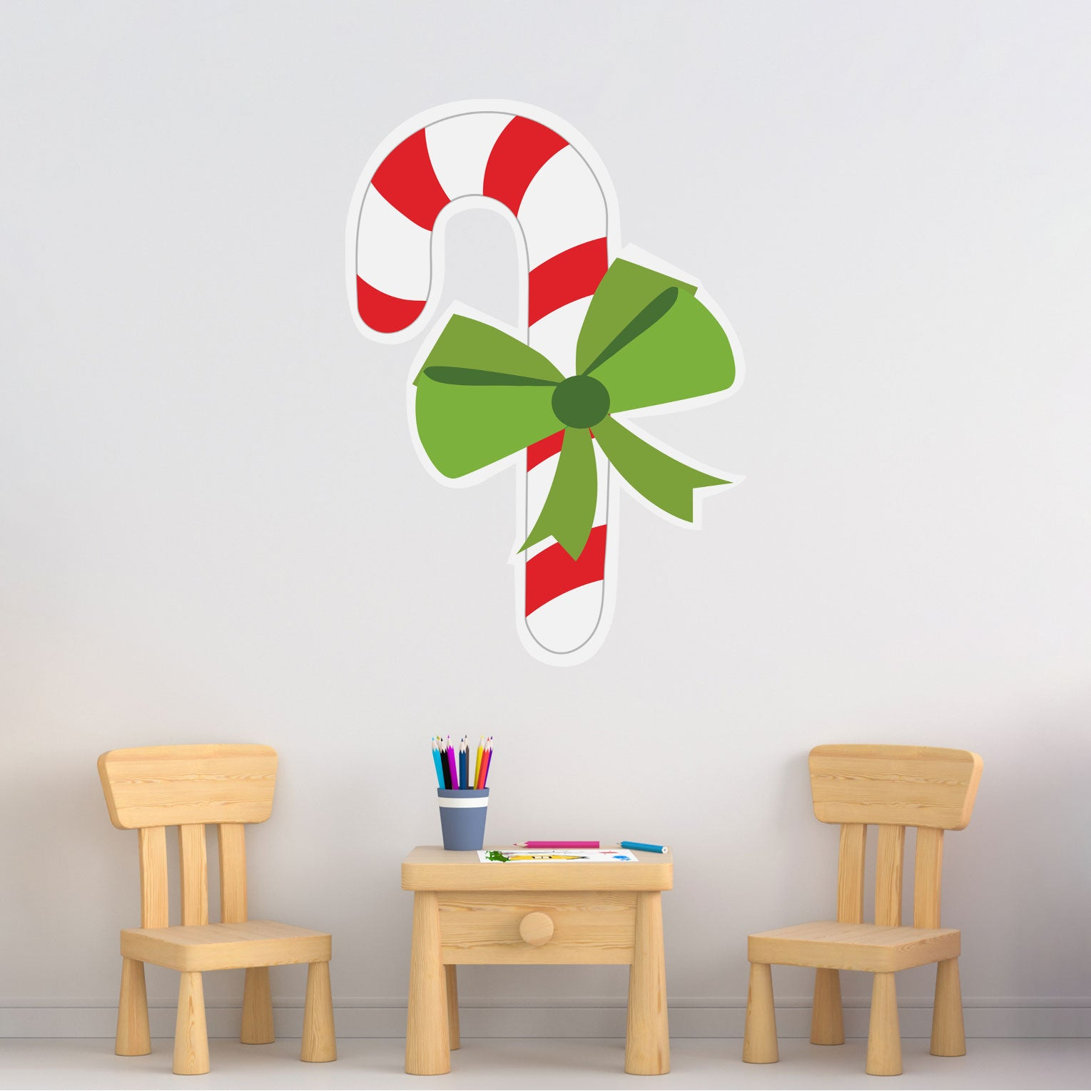 Candy Cane Removeable Wall Decal Stumpsparty Production