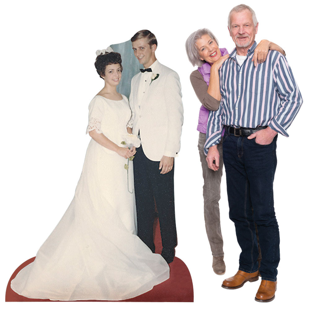 18 in. to 9 ft. Anniversary Select-a-Size Photo Standee