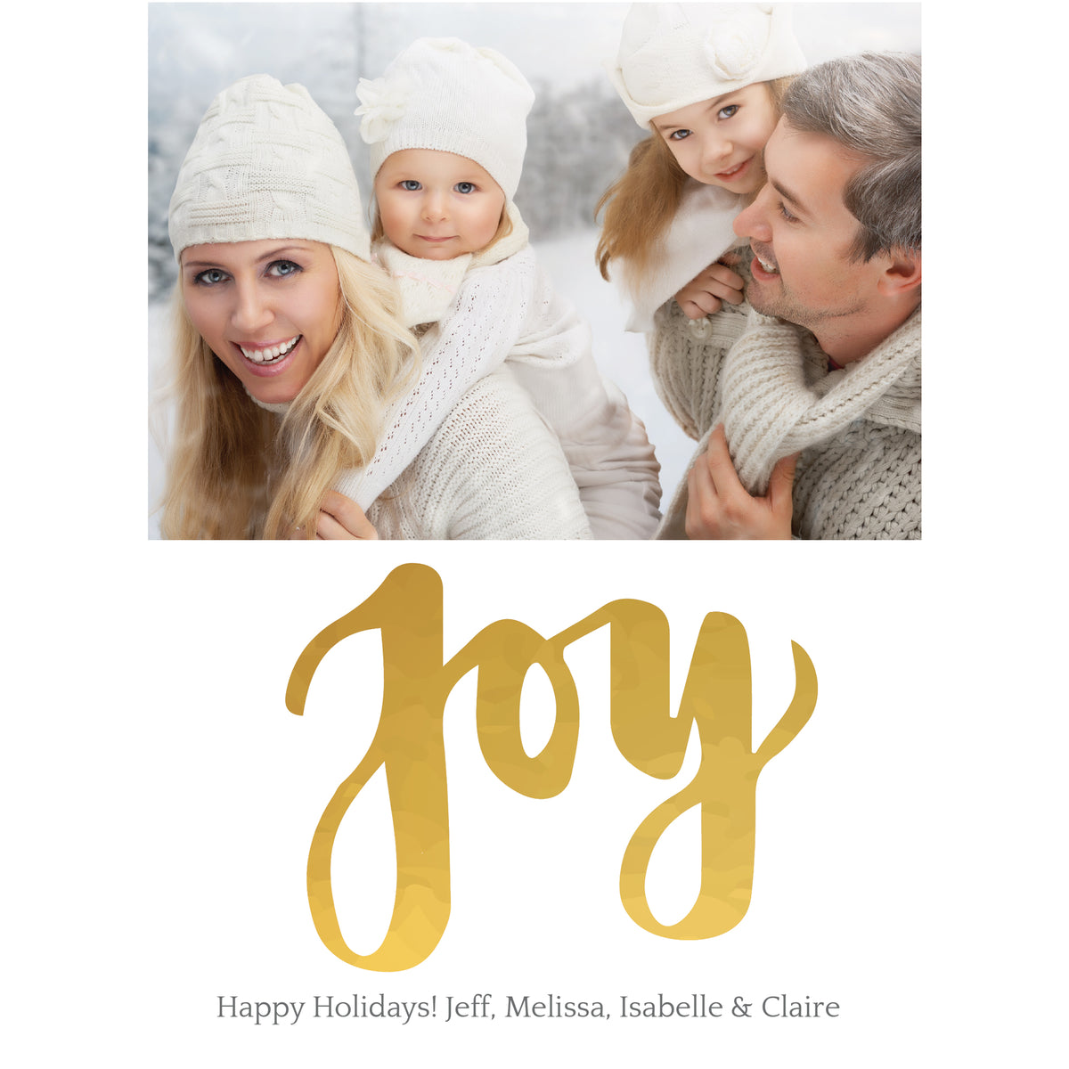 Gold Joy Personalized Photo Cards