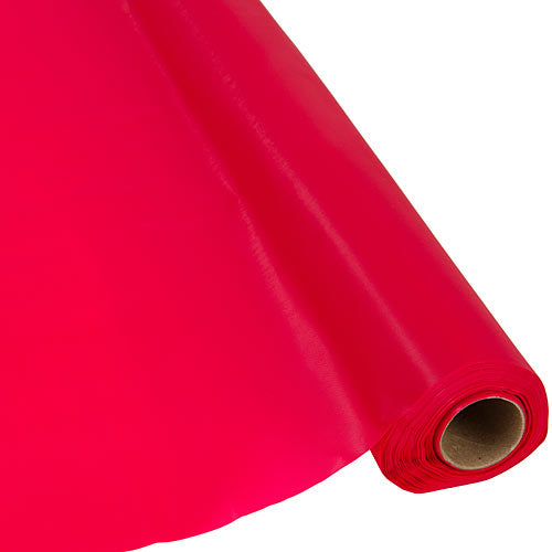 Classic Red Plastic Table Roll
