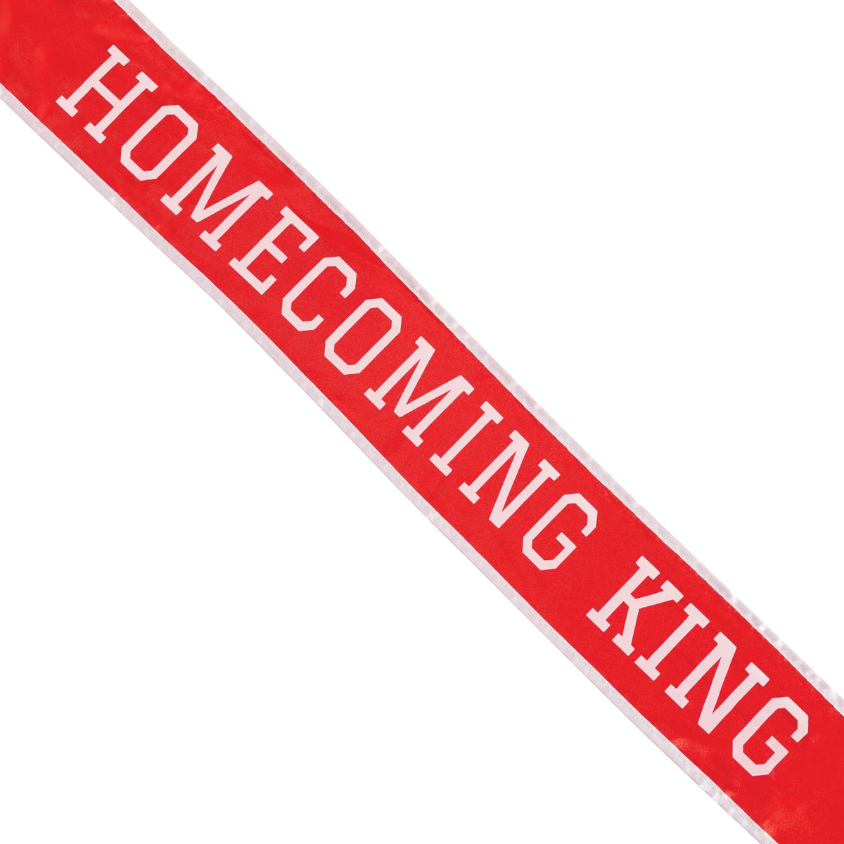 Red & White School Color Homecoming King Sash