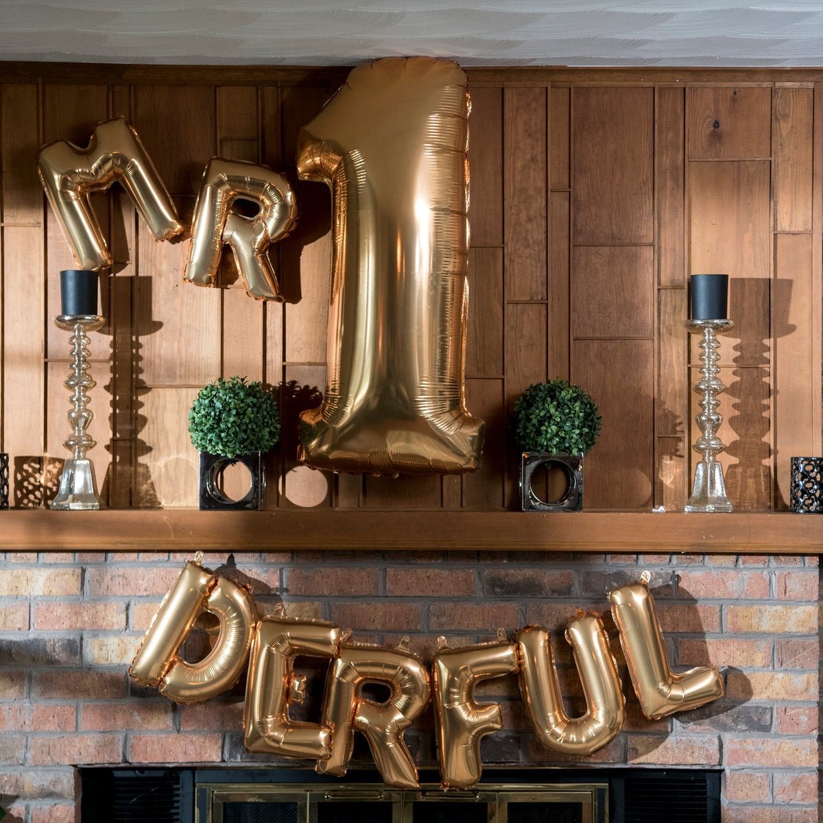 Letter M Gold Megaloon Junior Balloon