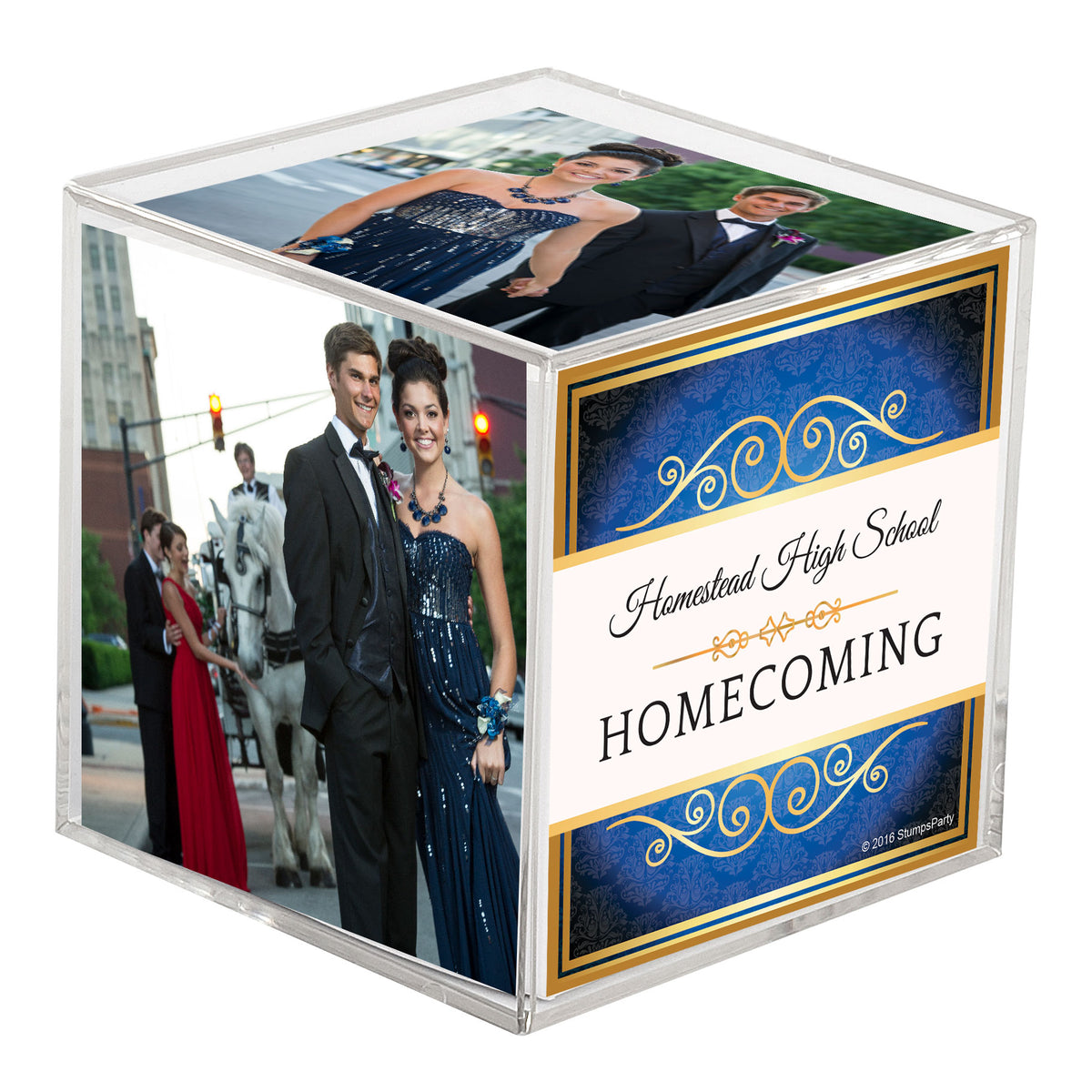 Belle of the Ball Personalized Photo Cube