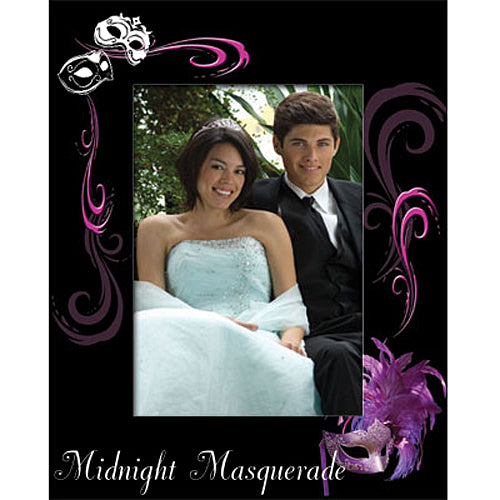 Personalized Masquerade Ball Romance Glass Frame