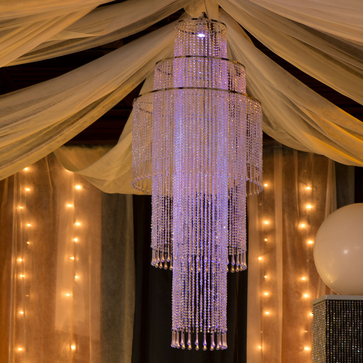 Lighted Tiered Chandelier