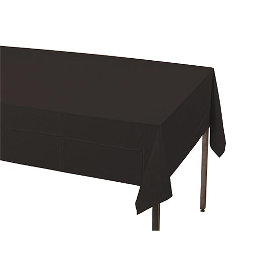 Black Rectangle Plastic Table Cover