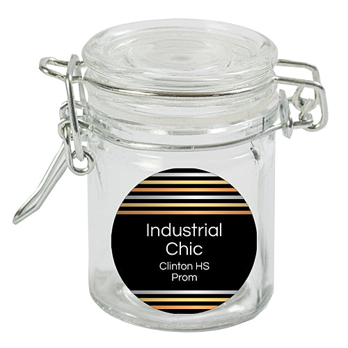 Industrial Chic Mini Locking Favor Jars