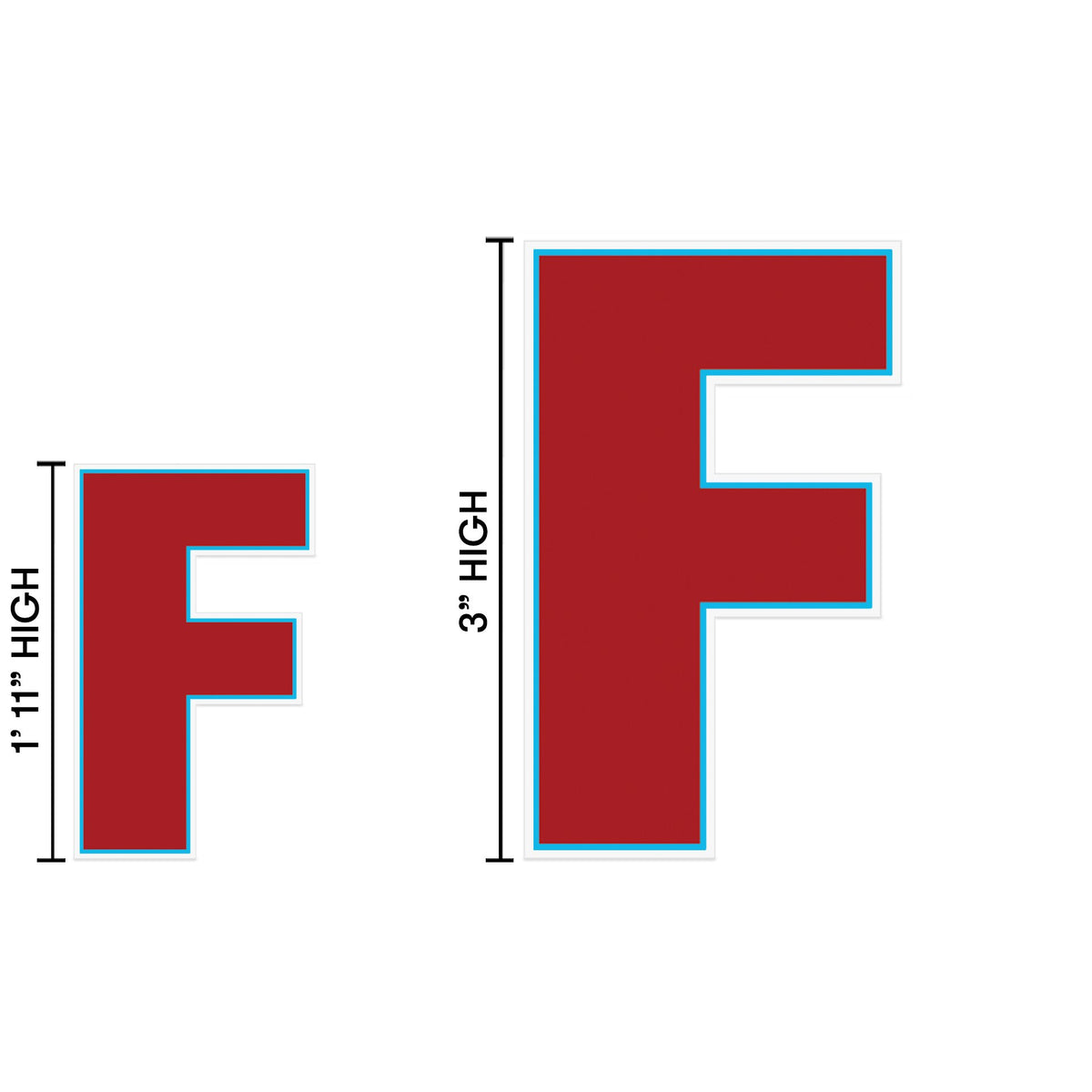 Yard Sign Expression Letter F