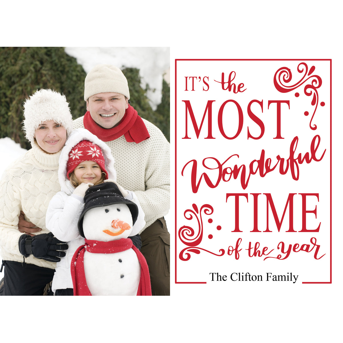 Holiday Cheer Personalized Photo Cards