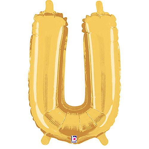 Letter U Gold Megaloon Junior Balloon