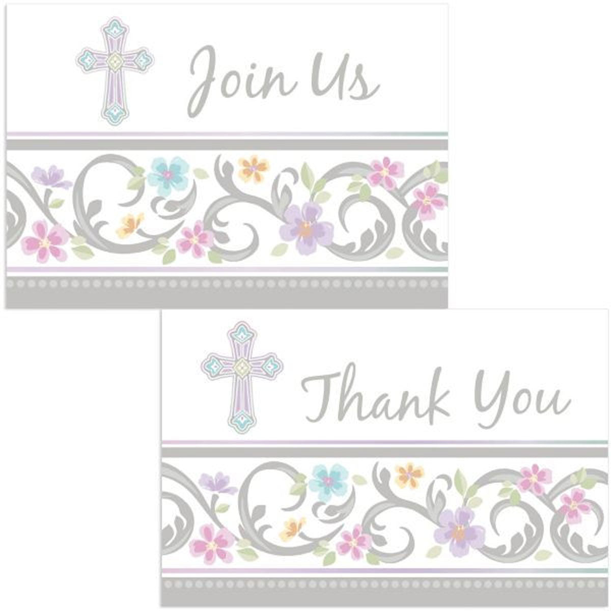 Blessed Day Invite and Thank You Cards