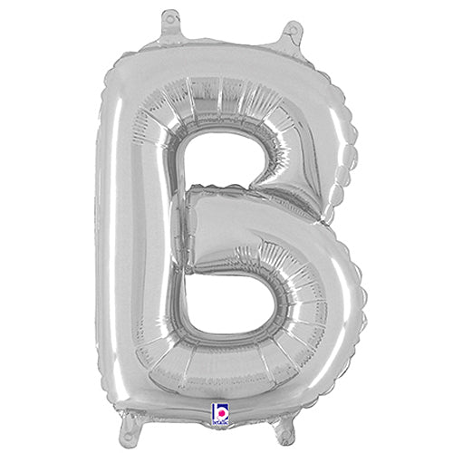 Letter B Silver Megaloon Junior Balloon