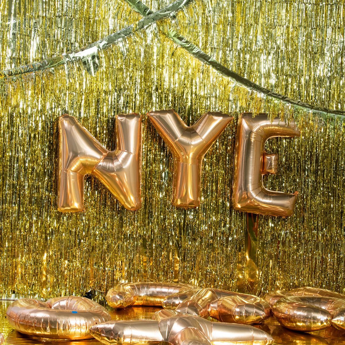 Letter Y Gold 40 in. Mylar Balloon