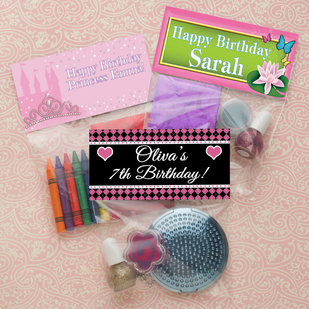 Swirl Lollipop Custom Favor Bag