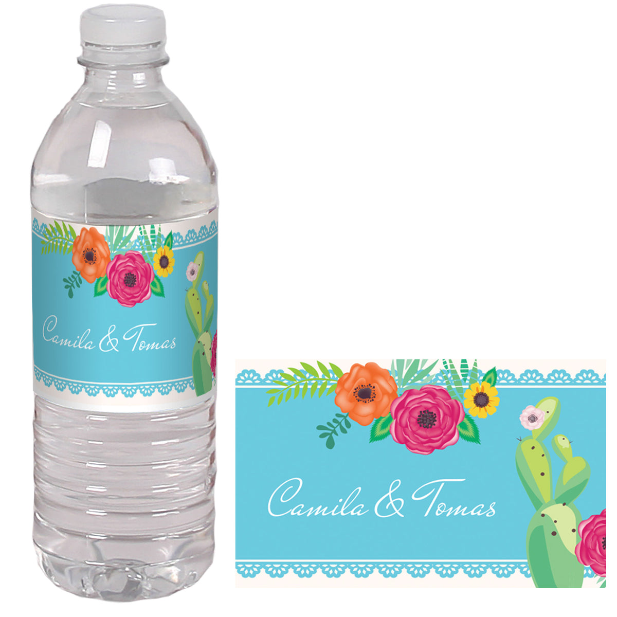Forever Fiesta Personalized Water Bottle Label