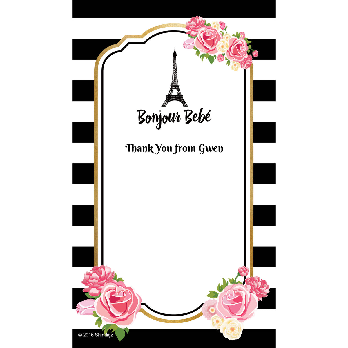 Bonjour Bebe Personalized Thank You Notes