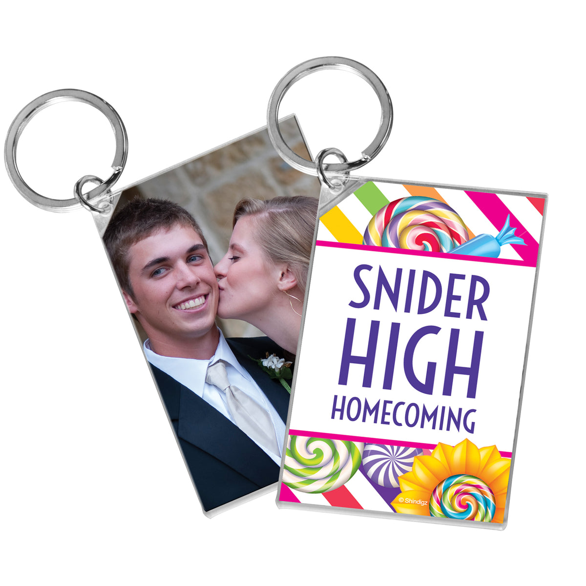Sugar Rush Personalized Acrylic Key Chain