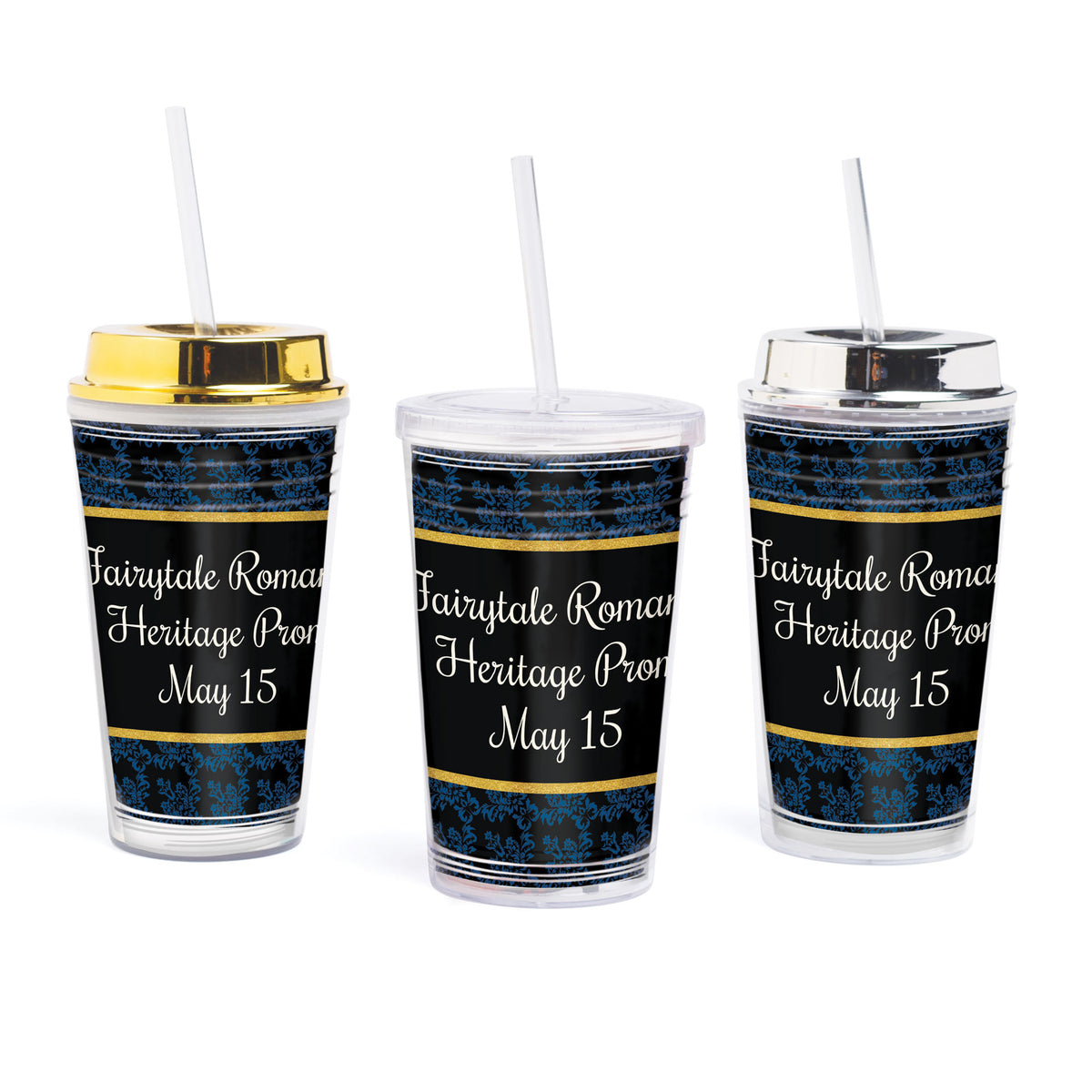 Midnight Blue Fairytale Romance Tumbler