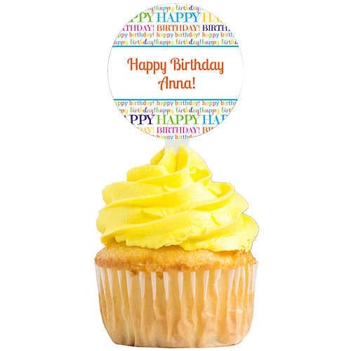 Happy Birthday Personalized Cupcake Picks