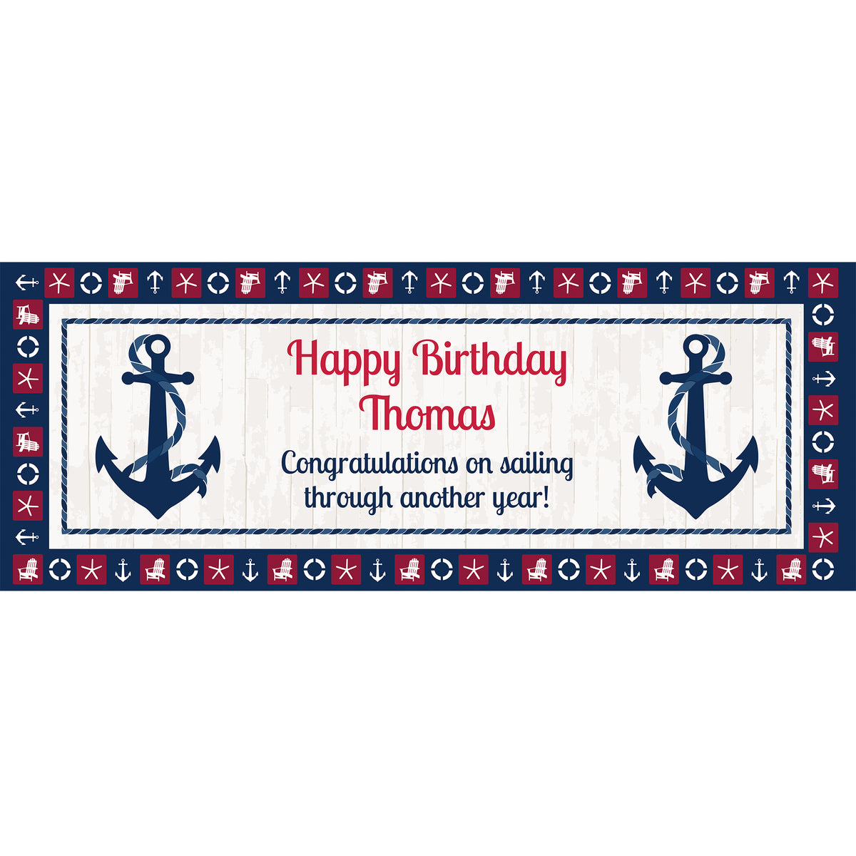 Anchors Away Rectangle Table Top-It