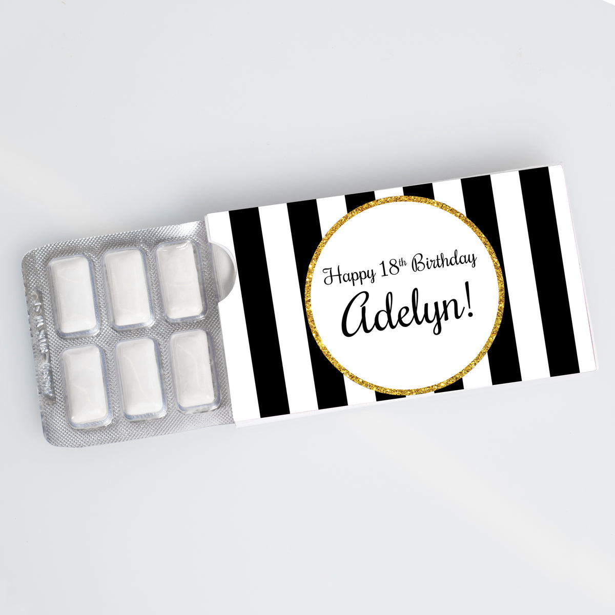Cheers to You Gold Personalized Gum Sliders
