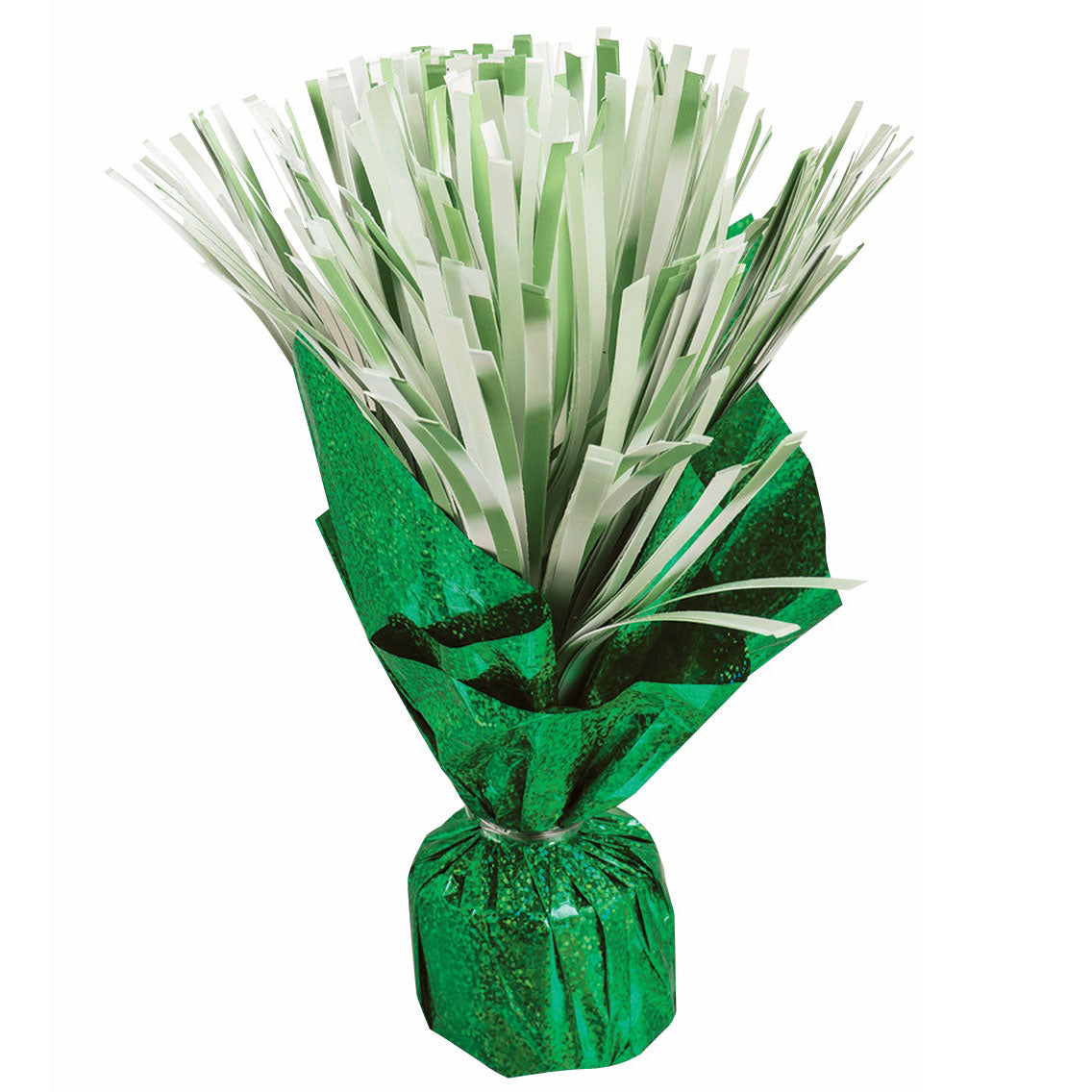 Green Pom Pom Balloon Weight Centerpiece
