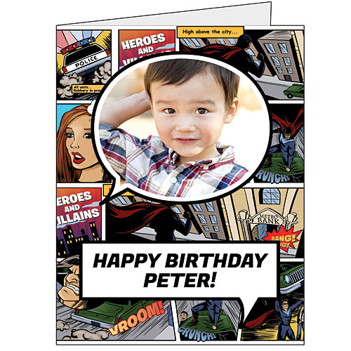 18 in., 24 in and 36 in. Heroes & Villains Giant Greeting Card