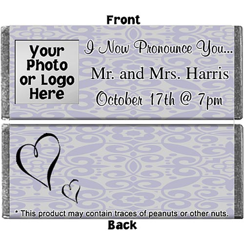 Hershey's Chocolate Wedding Photo Personalized Candy Bars
