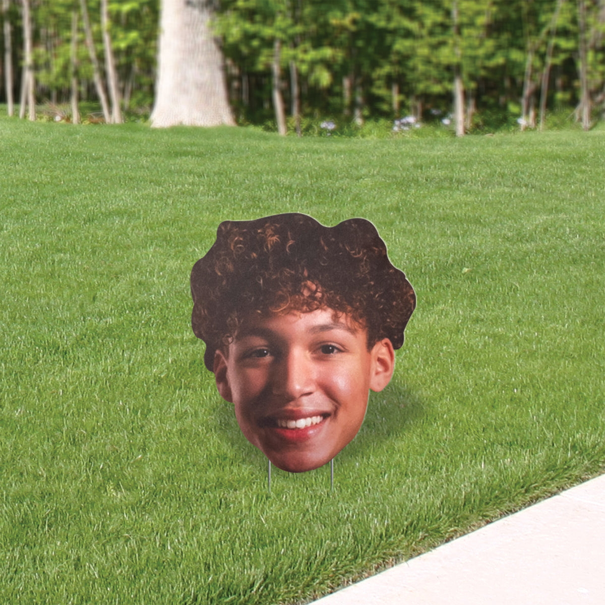 24 In. Big Head Yard Sign