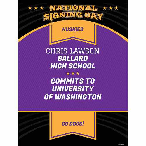 National Signing Day Custom Poster