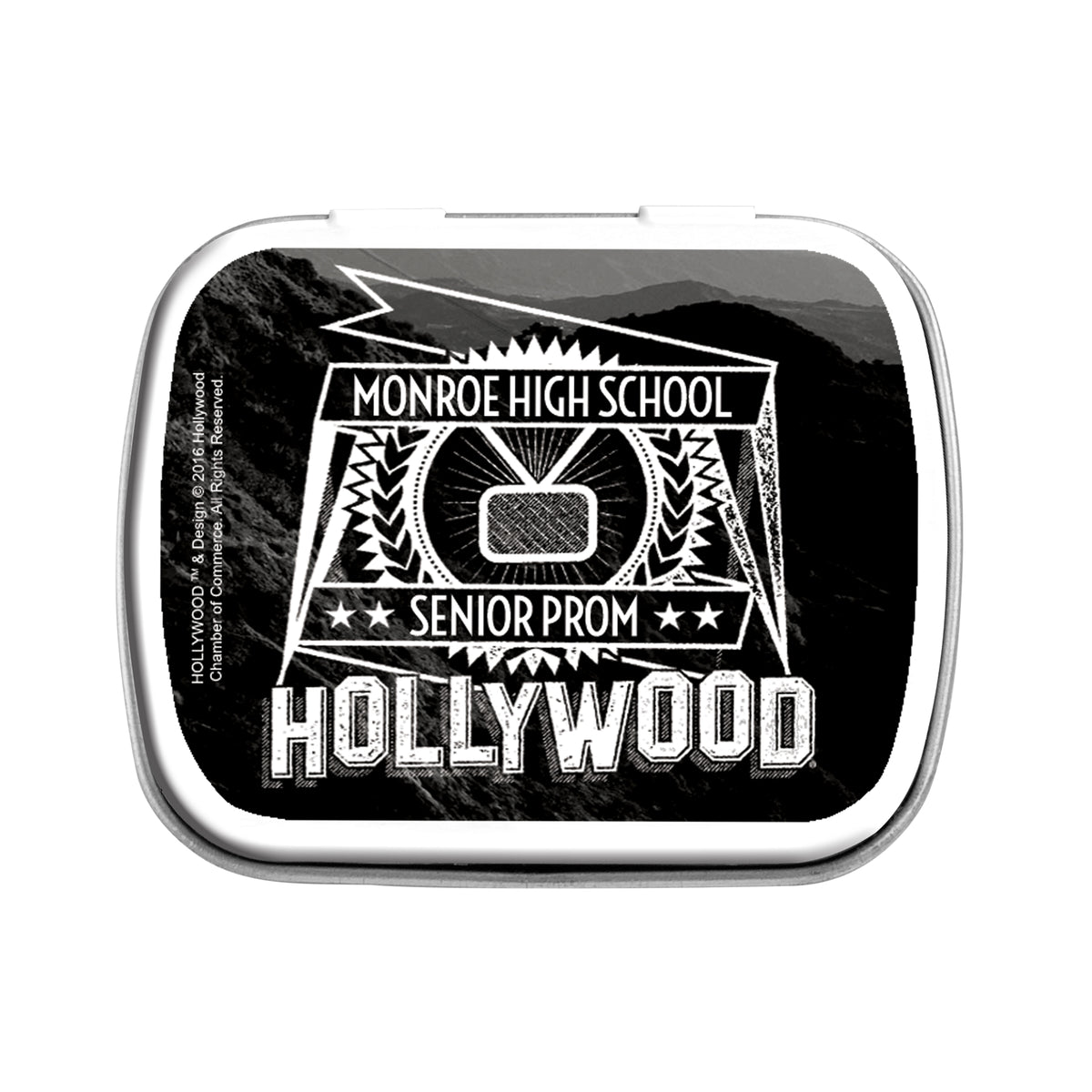 Hollywood Hills Sign Personalized Mint Tin