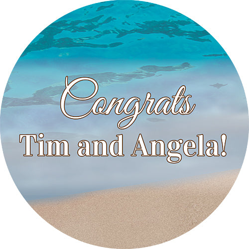 Sandy Beach Personalized Sticker