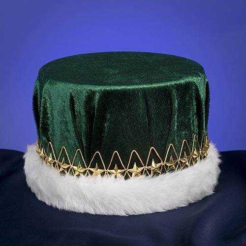 Green & Gold Regal Velvet Crown