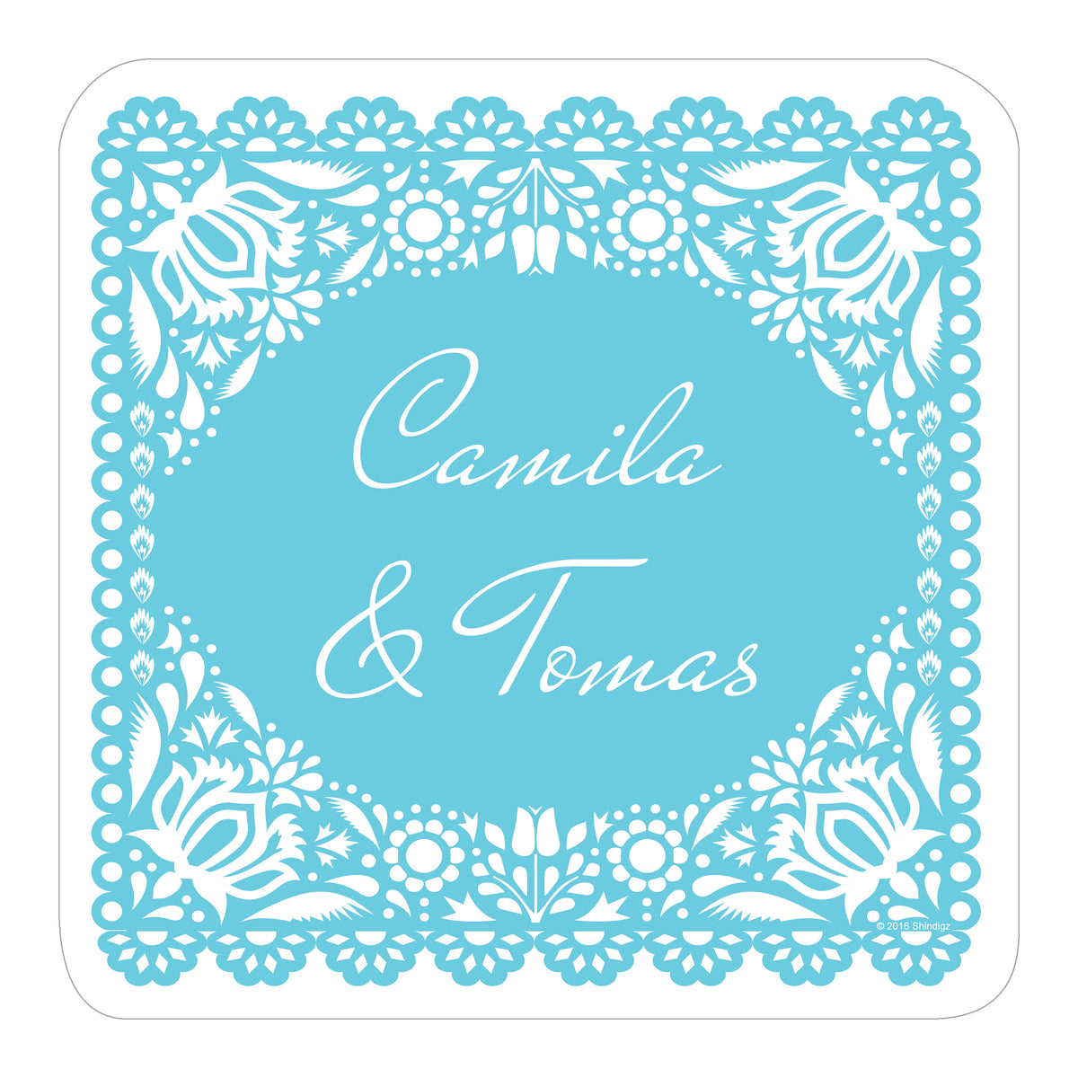 Forever Fiesta Personalized Square Sticker
