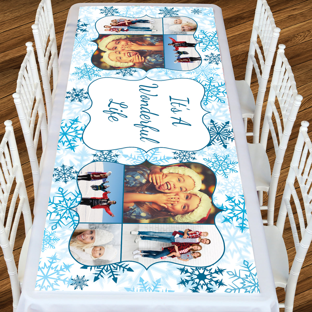 Let It Snow Rectangle Table Top-It