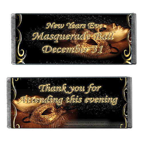 Hershey's Chocolate Mardi Gras Ball Personalized Candy Bars