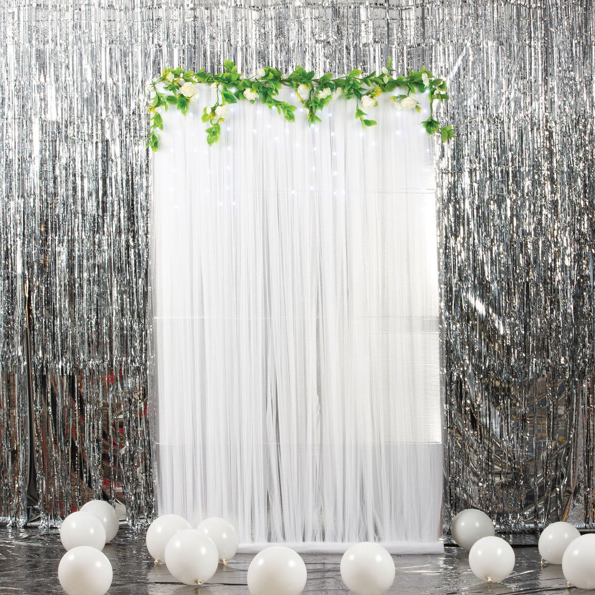 Soft Silver Fabric Background