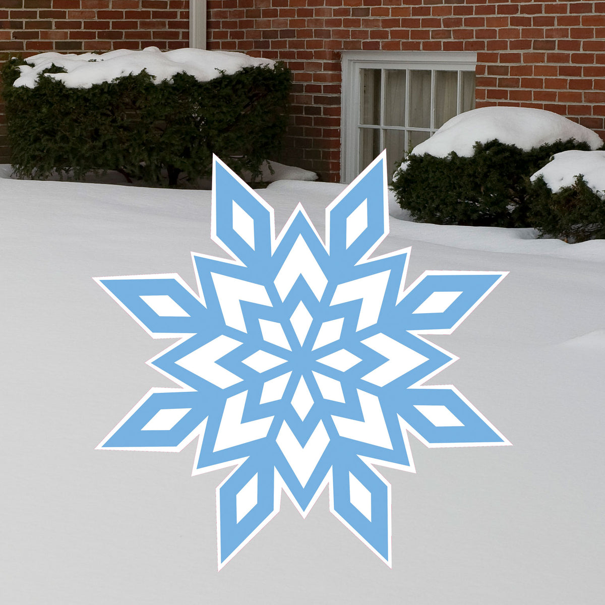 2 ft. 1 in. Traditional Snowflake Yard Sign Expression Icon