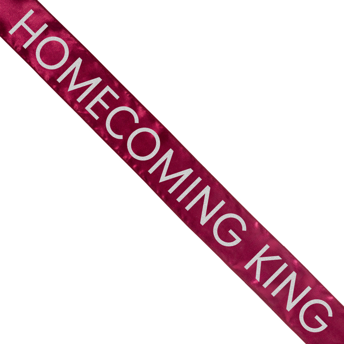 Maroon Satin Homecoming King Sash