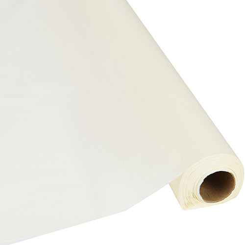 Ivory Plastic Table Roll