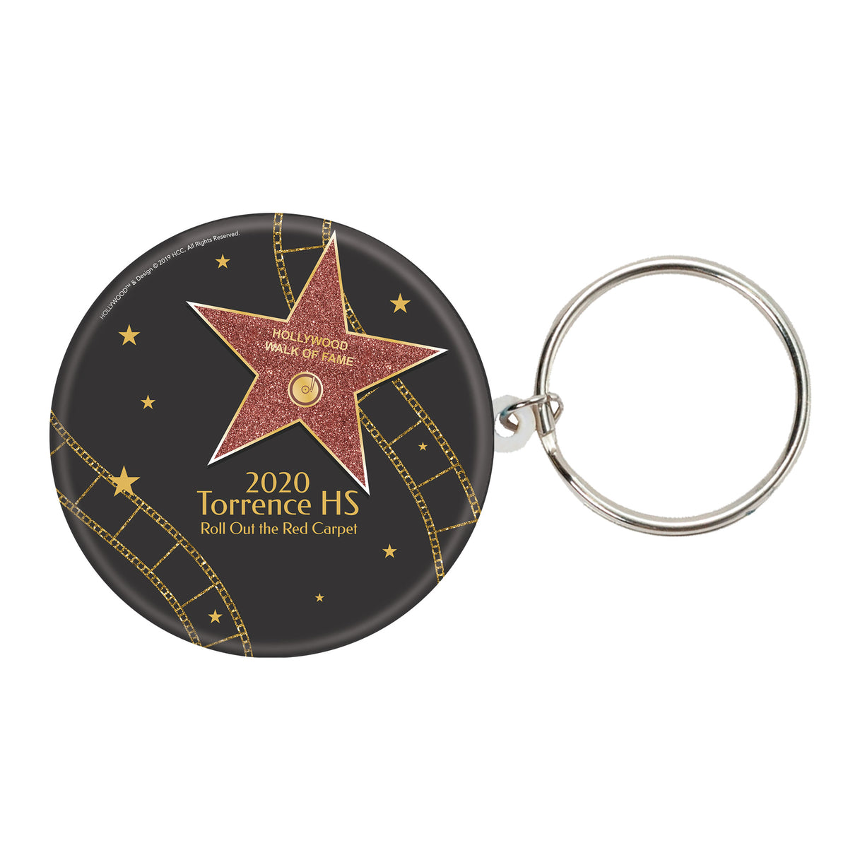 Hollywood Star Walk of Fame 3 Personalized Key Chain