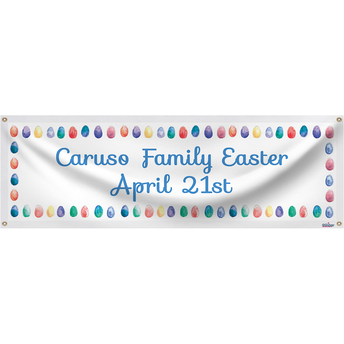 Hoppy Easter Personalized Banner