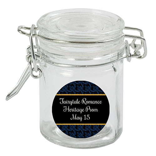 Midnight Blue Fairytale Romance Mini Favor Jar