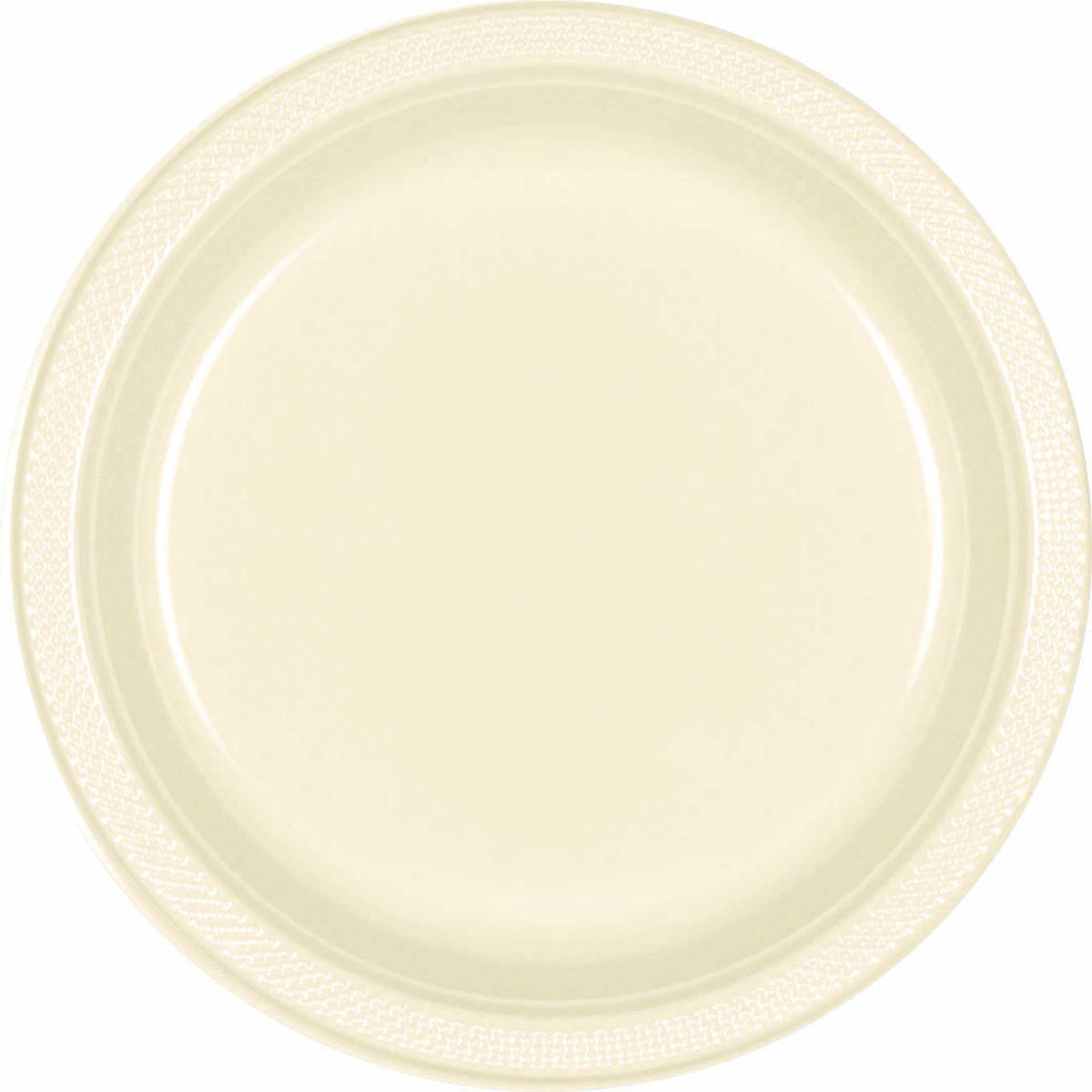 7 Inch Ivory Plastic Plates