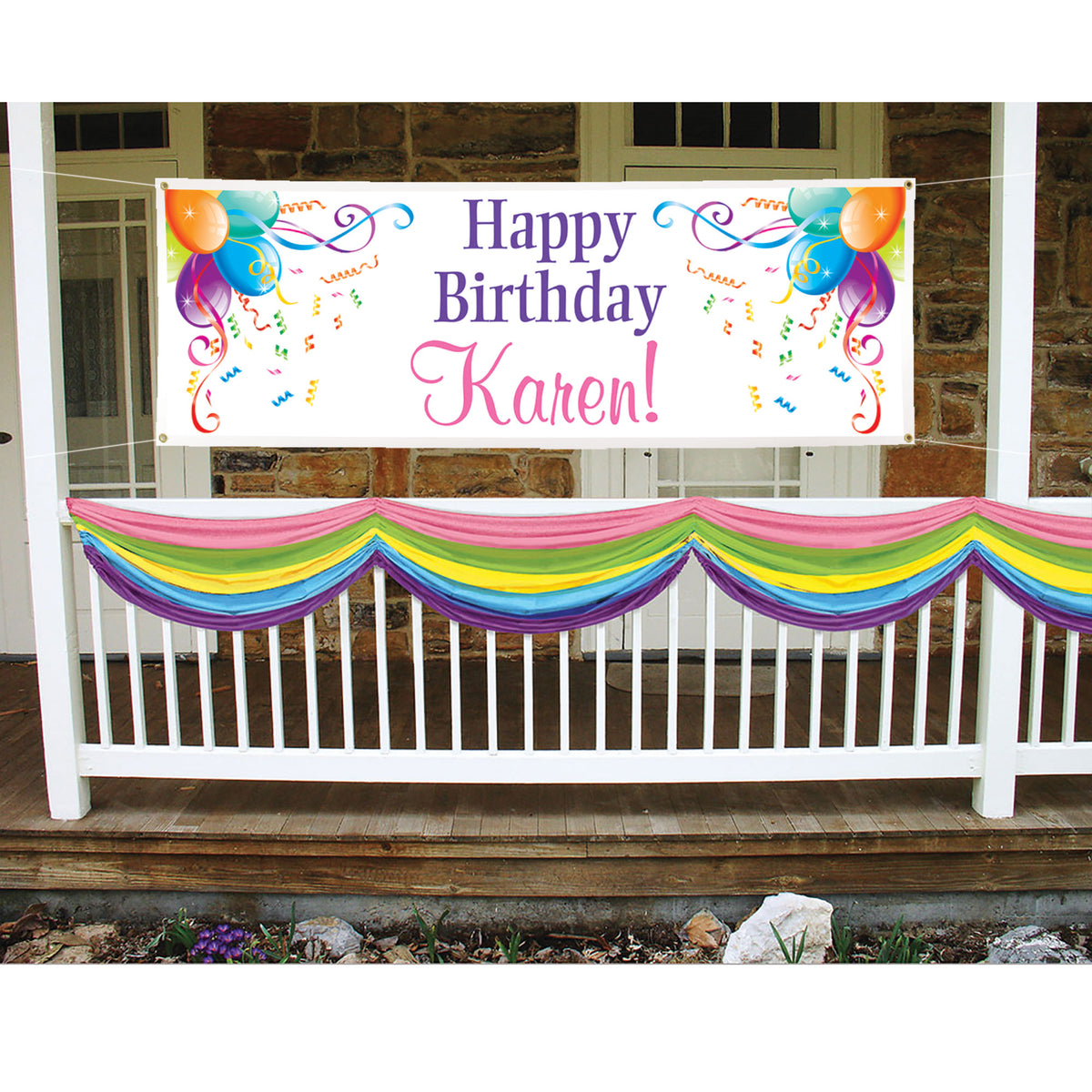 All Over Clover Personalized Banner