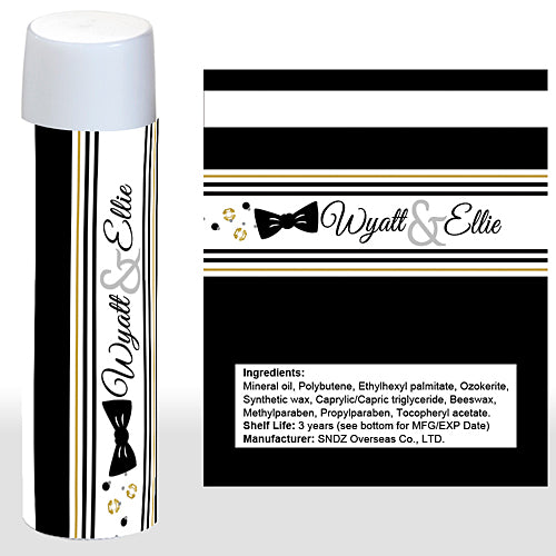 Sequins & Bow Ties Personalized Lip Balm