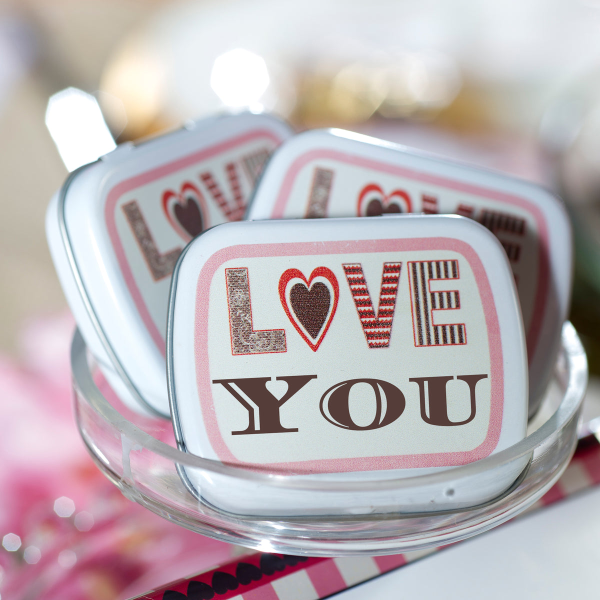 Black & White Swirl Personalized Mint Tins