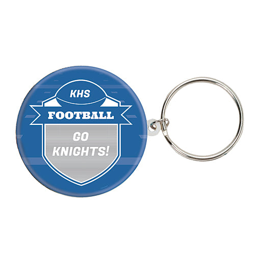 Football Spirit Custom Round Key Chain
