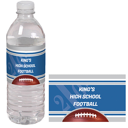 Football Spirit Custom Water Bottle Labels